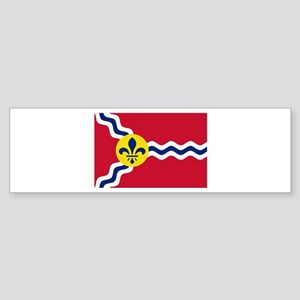 St Louis Flag Bumper Sticker