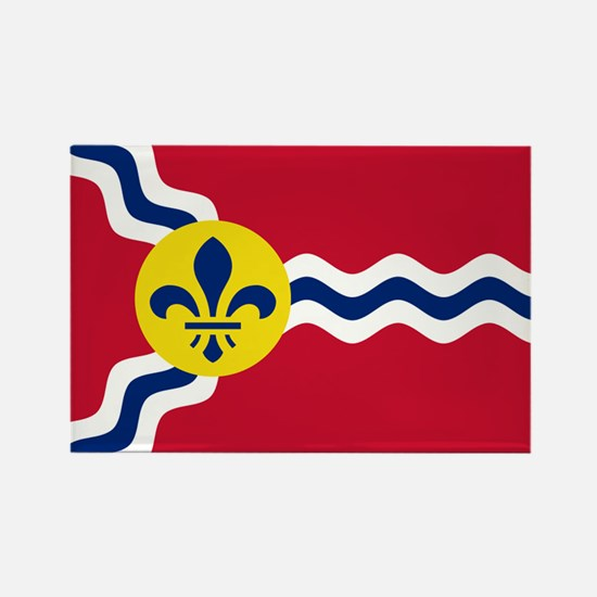 St Louis Flag Rectangle Magnet (10 pack)
