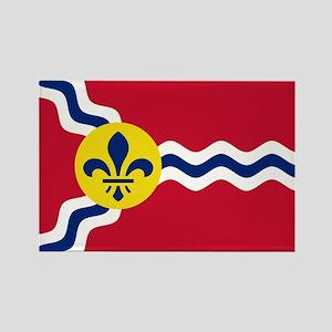 St Louis Flag Rectangle Magnet