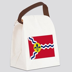 St Louis Flag Canvas Lunch Bag