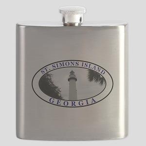Saint Simons Island Flask