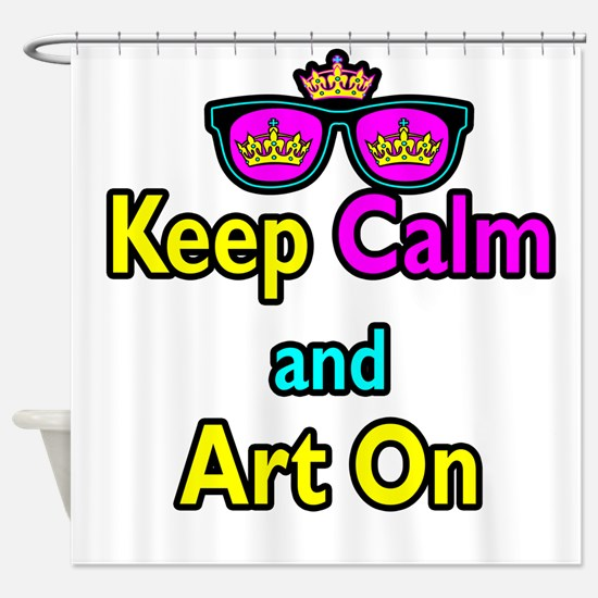 Crown Sunglasses Keep Calm And Art On Shower Curta