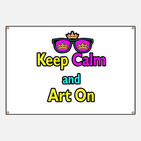 Crown Sunglasses Keep Calm And Art On Banner