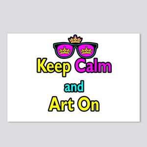 Crown Sunglasses Keep Calm And Art On Postcards (P