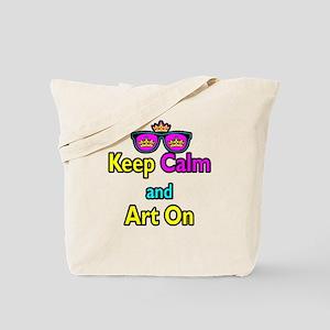 Crown Sunglasses Keep Calm And Art On Tote Bag