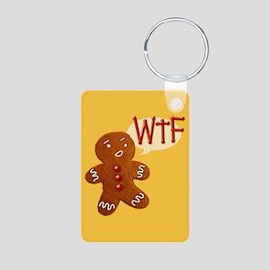 Gingerbread WTF Aluminum Photo Keychain
