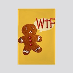 Gingerbread WTF Rectangle Magnet
