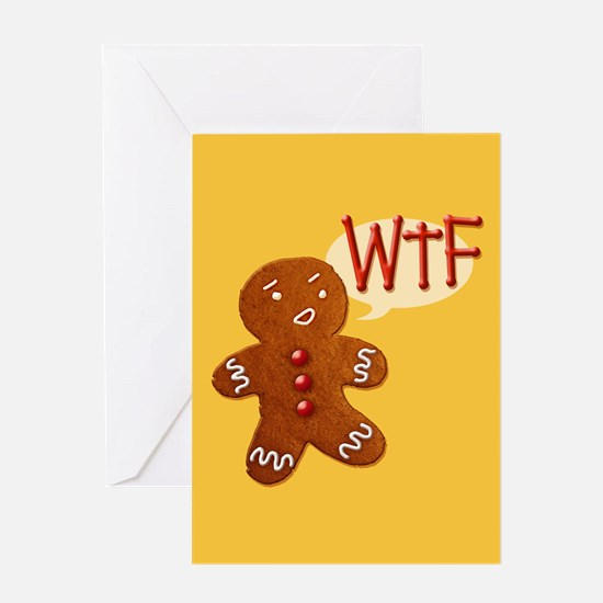Gingerbread WTF Greeting Card
