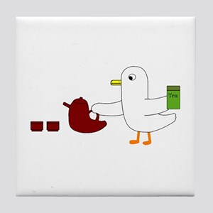 Making Tea Tile Coaster