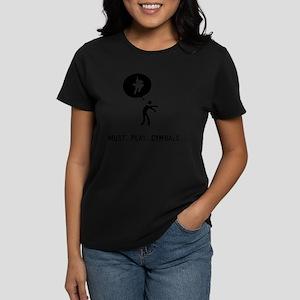 Bass Cymbal Player Women's Dark T-Shirt