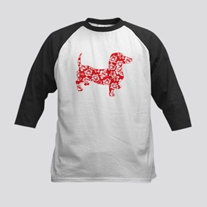 Aloha Doxies in Red Kids Baseball Jersey