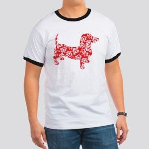 Aloha Doxies in Red Ringer T