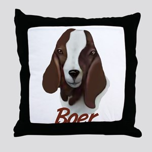"GOAT-Boer ""Sasha"" Throw Pillow"