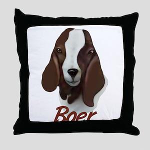 """GOAT-Boer """"Sasha"""" Throw Pillow"""