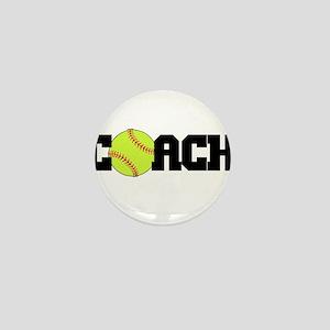 Softball Coach Mini Button