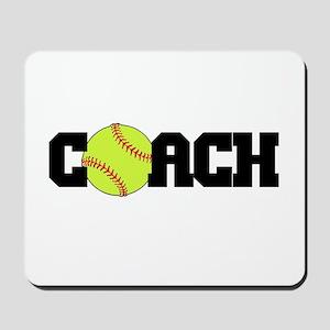 Softball Coach Mousepad