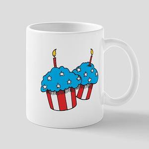 USA patriotic cupcakes stars and stripes Mug