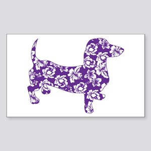 Aloha Doxies in Purple Sticker (Rectangle)