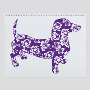 Aloha Doxies in Purple Wall Calendar