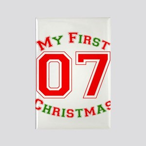 My First Christmas 07 Rectangle Magnet