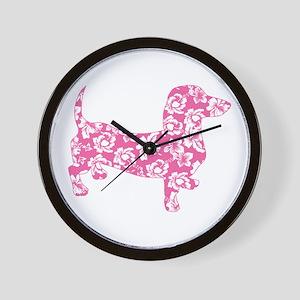 Aloha Pink Doxies Wall Clock