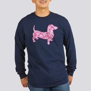 Aloha Pink Doxies Long Sleeve Dark T-Shirt