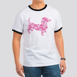 Aloha Pink Doxies Ringer T