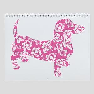 Aloha Pink Doxies Wall Calendar