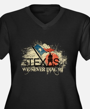 Don't mess with Texas Women's Plus Size V-Neck Dar
