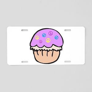 Cute Purple Peace Cupcake Cartoon Design Aluminum