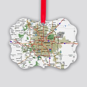 Denver Map Picture Ornament