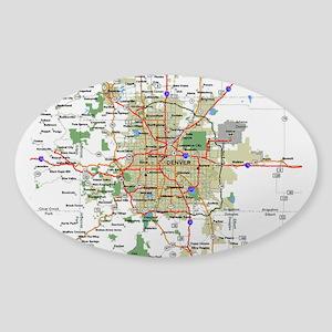 Denver Map Sticker (Oval)