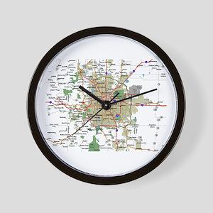 Denver Map Wall Clock