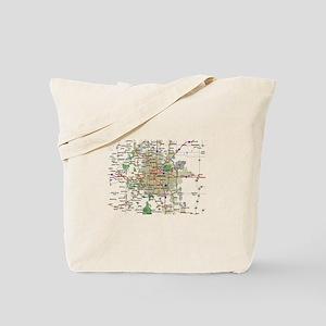 Denver Map Tote Bag