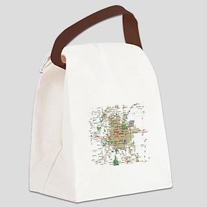 Denver Map Canvas Lunch Bag