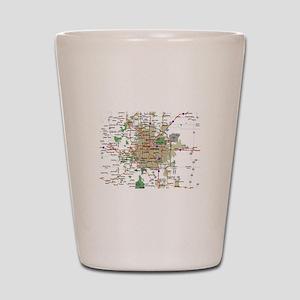 Denver Map Shot Glass