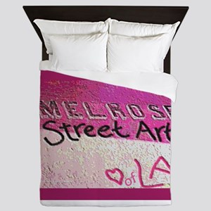 Melrose Street Art framed Queen Duvet