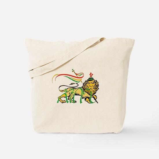 Ambasa Lion Amharic Tote Bag