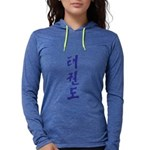 Korean Taekwondo Womens Hooded Shirt