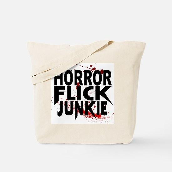 Horror Flick Junkie Tote Bag