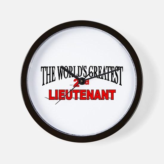"""The World's Greatest 2nd Lieutenant"" Wall Clock"
