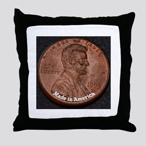 Penny Made in America Throw Pillow