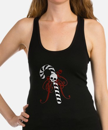 Skull Candy Cane Racerback Tank Top