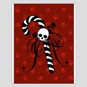 Skull Candy Cane Small Poster