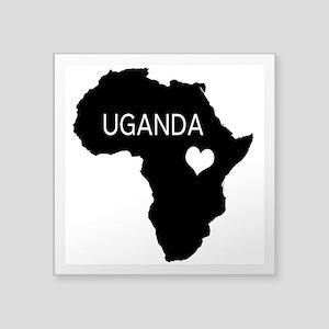 """Uganda Car Decal 3"""" x 3"""""""