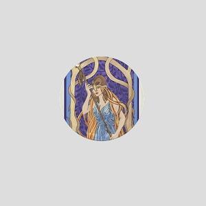 owl eyed athena Mini Button