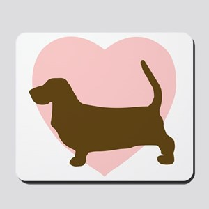 Basset Hound Heart Mousepad