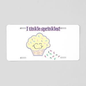 Tinkle Sprinkles Funny Cupcake Aluminum License Pl