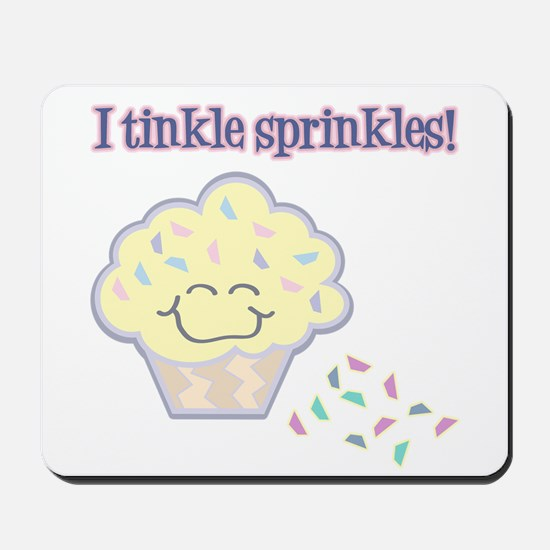 Tinkle Sprinkles Funny Cupcake Mousepad