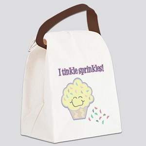 Tinkle Sprinkles Funny Cupcake Canvas Lunch Bag